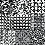 Set of doodle patterns Royalty Free Stock Photos