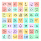 Set of Doodle Travel Icons. Stock Photos