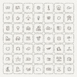 Set of Doodle Travel Icons. Royalty Free Stock Photography