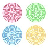 Set of vector spirals isolated on white background. Graphic elements. Set of doodle vector spirals isolated on white background. Bright graphic elements vector illustration