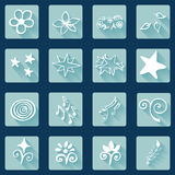 Set of doodle white icons, abstract Royalty Free Stock Photos