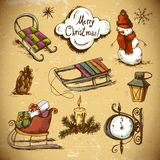 Set of Doodles Design New Year  Elements Stock Photography