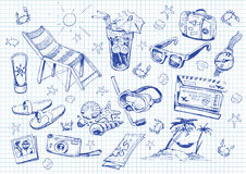 Set of doodles. vacation Stock Photography