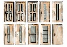 Set of door2 Stock Photos