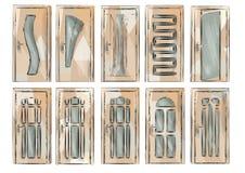 Set of door5 Stock Images