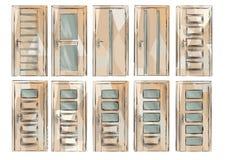 Set of door4 Royalty Free Stock Image