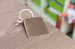 Set of door keys on a blurred background Royalty Free Stock Images