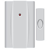 Set Doorbell with Button Royalty Free Stock Image