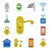 Set Doorknob, Blokujący, wisząca ozdoba, rękojeść, Mądrze dom, zatrzaskiwanie, W ten sposób royalty ilustracja