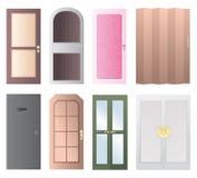 Set of doors icon Stock Photos
