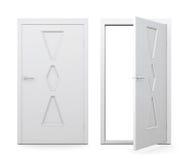 Set of doors  on white background. 3d illustration Stock Photo