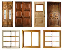 Set of doors and windows  Stock Photography