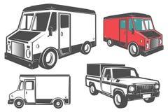 Set doręczeniowa ciężarówka dla emblematów i loga Obraz Stock