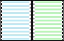 Set of Dot Matrix Printer Paper Royalty Free Stock Photo
