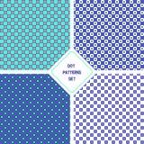 Set of dot seamless patterns Stock Photos