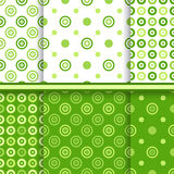 Set of dot vector seamless patterns Stock Photo