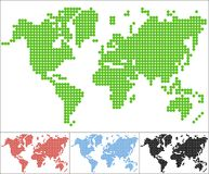 Set of dot world map Stock Image