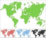 Set of dot world map Stock Image