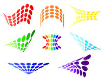Set of dots logos. Rainbow symbols for your site. Stock Images