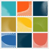 Set of dotted abstract forms. Vector illustration Stock Photos