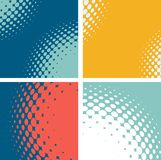 Set of dotted abstract forms. Vector illustration Royalty Free Stock Images