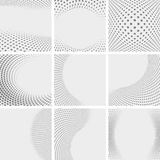 Set of dotted abstract forms Stock Images