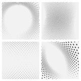 Set of dotted abstract forms. Stock Image