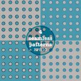 Set of dotted seamless patterns Stock Photo