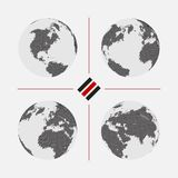 Set of dotted world maps in different resolution Royalty Free Stock Photography