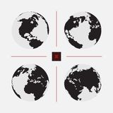 Set of dotted world maps in different resolution. Set of dotted world maps. Vector illustration Stock Photo