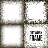 Set of Dotwork Vector Frames Royalty Free Stock Photo