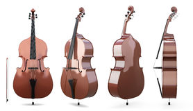 Set of double bass Royalty Free Stock Photography