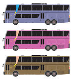 Set of Double deck City Bus  isolated Stock Photos