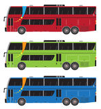 Set of Double deck City Bus  isolated Royalty Free Stock Photo