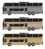 Set of Double deck City Bus  isolated Stock Photo