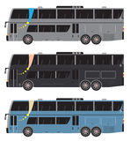 Set of Double deck City Bus  isolated Royalty Free Stock Photos