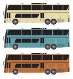 Set of Double deck City Bus  isolated Royalty Free Stock Image
