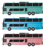 Set of Double deck City Bus  isolated Stock Images