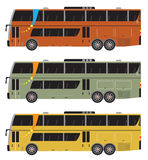 Set of Double deck City Bus vector isolated Stock Images