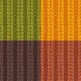 Set of Double Ribbing Stitch Patterns. Stock Photo