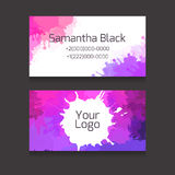 Set of double-sided business card with space Royalty Free Stock Images