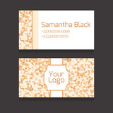 Set of double-sided business card with space for your text Royalty Free Stock Photos