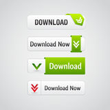 Set of download buttons Stock Images