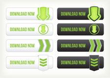 Set of download buttons Royalty Free Stock Photo