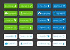 Set of Download Buttons Royalty Free Stock Photography