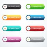 Set of download buttons. Vector illustration eps 10 Stock Images