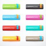 Set of download buttons. Vector illustration. Eps 10 Vector Illustration