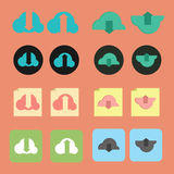 Set of download and upload icon Royalty Free Stock Photography