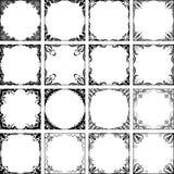 Set of dozen square frame for your design. Stock Photo