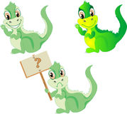 Set of dragons. Set of three cute dragons Royalty Free Stock Photography